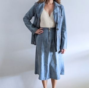 1970's Southwest-Style Jean Jacket and Skirt Set